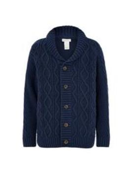 Boys Gordon Grandad Cardigan   Navy by Monsoon