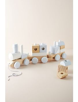 Wooden Block Train Toy by Melissa & Doug