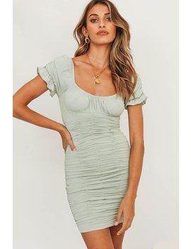 Slow Motion Ruched Mini Dress // Sage by Vergegirl