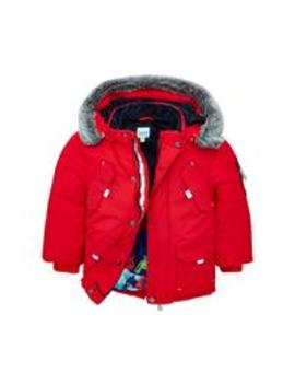 Toddler Boys Parka Coat   Red by Baker By Ted Baker