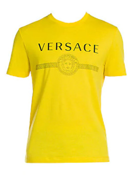 Logo Cotton T Shirt by Versace