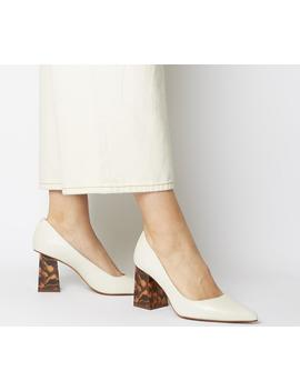Minty Feature Heel Court Shoes by Office