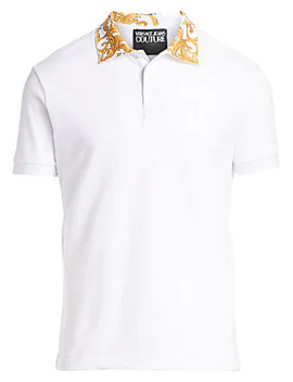 Baroque Collar Polo Tee by Versace Jeans Couture