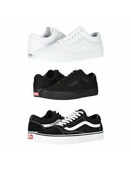 Vans Old Skool Skateboard Classic Black White Mens Womens Sneakers Tennis Shoes by Vans