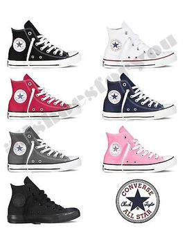 Converse All Star Chuck Taylor Canvas Shoes High Top All Sizes Free Shipping by Converse