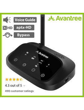 Avantree Oasis Plus Bluetooth 4.2 Transmitter Receiver For Tv Audio,Apt X Hd Long Range, Home Stereo, Optical Digital, Aux & Rca, Wired & Wireless Simultaneously, Dual Link Low Latency by Avantree