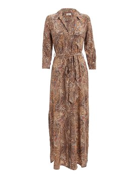 Cameron Leopard & Paisley Shirt Dress by L'agence