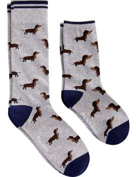 Jos. A. Bank Grey Dachshund Father & Son Dress Socks, 2 Pair by Jos. A. Bank