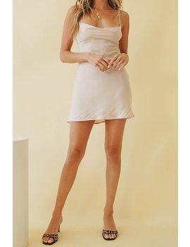 Golden Affair Bias Cut Mini Dress // Natural by Vergegirl
