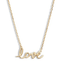 Say Yes Love Script Pendant Necklace by Kate Spade New York