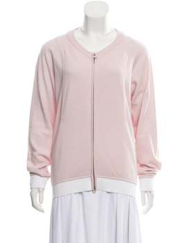Cashmere Zip Up Cardigan by Chanel