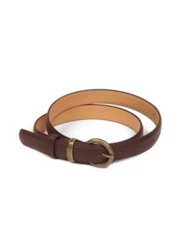 Sale Metal Buckle Vintage Pu Leather Belt   Coffee by Zaful