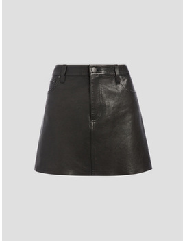 Amazing Leather Mini Skirt by Alice And Olivia