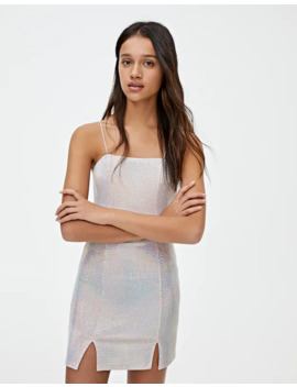 Mini Dress With Shiny Details by Pull & Bear