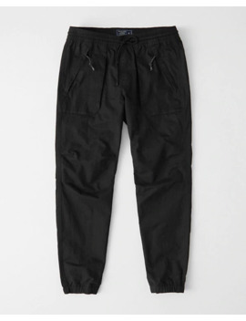Nylon Blend Utility Joggers by Abercrombie & Fitch
