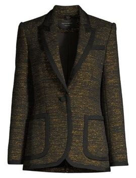 Bodanne Metallic Tweed Blazer by Equipment