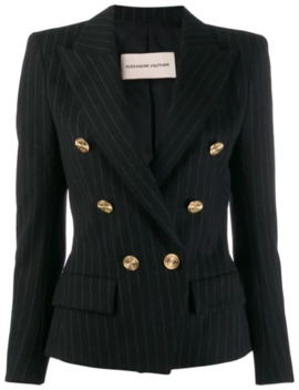 Double Breasted Pinstripe Blazer by Alexandre Vauthier