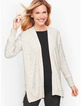 Dream Tweed Mixed Stitch Cardigan by Talbots