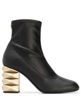 Gold Tone Heel Boots by Giuseppe Zanotti