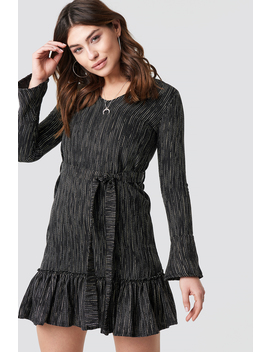 Wasitband Detail Patterned Dress Black by Trendyol