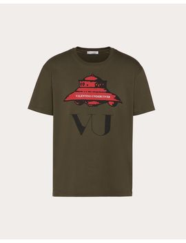T Shirt With Ufo Vu Print by Valentino