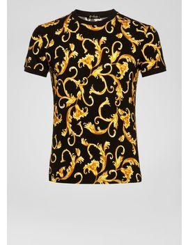 Camiseta Deportiva Con Estampado Barroco by Versace