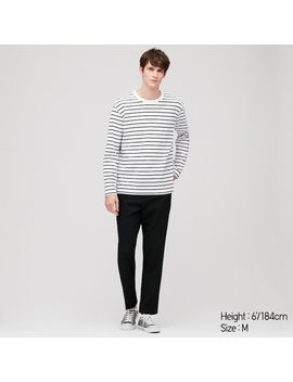 Men Striped Long Sleeved T Shirt by Uniqlo