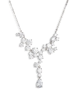 Cubic Zirconia Cluster Necklace by Nordstrom