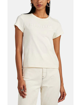 Logo Embroidered T Shirt by Helmut Lang
