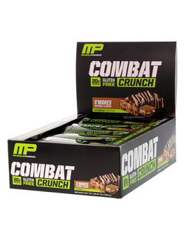 Muscle Pharm, Combat Crunch, S'mores, 12 Bars, 2.22 Oz (63 G) Each by Muscle Pharm