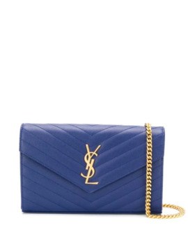 Monogram Quilted Shoulder Bag by Saint Laurent
