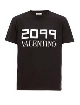 2099 Logo Print Cotton T Shirt by Valentino