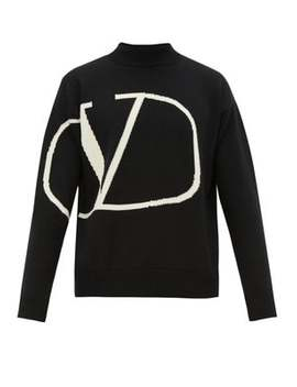 V Logo Intarsia Wool Sweater by Valentino