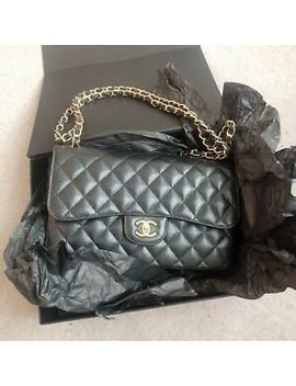 Chanel Classic Jumbo Double Flap Black Caviar With Gold Hardware 100% Authentic by Ebay Seller