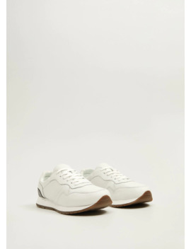 Leather Retro Sneakers by Mango