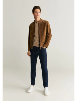 Elbow Patch Suede Jacket by Mango
