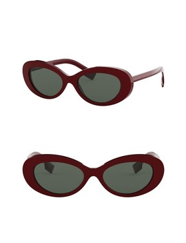 54mm Oval Sunglasses by Burberry