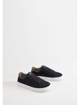 Stitching Suede Sneakers by Mango