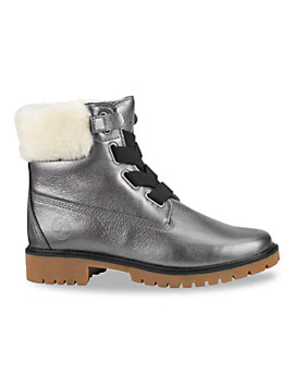 Jayne Convenience Shearling Trimmed Leather Boots by Timberland