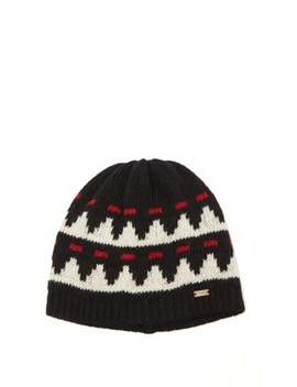 Jacquard Knit Wool Beanie by Saint Laurent