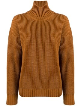 Turtleneck Ribbed Jumper by Msgm
