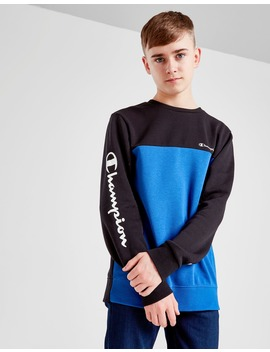Champion Colour Block Fleece Crew Sweatshirt Junior by Champion
