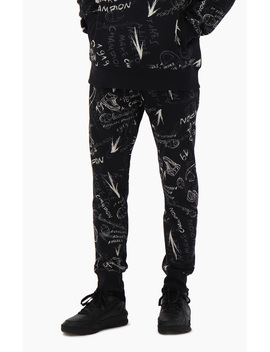 Graffiti Print Cuffed Joggers by Champion