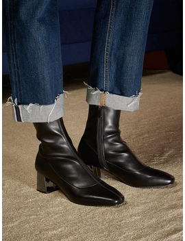 Talia Ankle Boots Black by Just Jinny