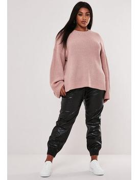 Plus Size Rose Crew Neck Jumper by Missguided