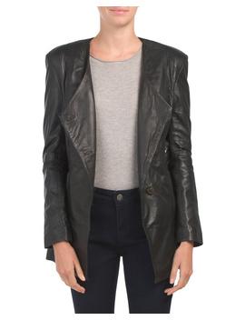 Leather Wrap Button Blazer by Tj Maxx
