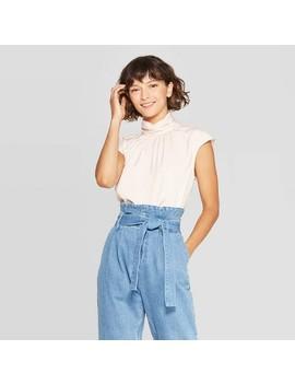 Women's Short Sleeve Mock Turtleneck Blouse   Who What Wear™ by Who What Wear