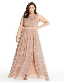 Maya Curve All Over Sequin Maxi Dress by Simply Be