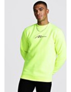 Man Signature Sweater by Boohoo Man
