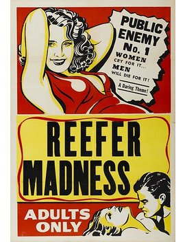 Reefer Madness Vintage Movie Poster Poster by Cj Anderson